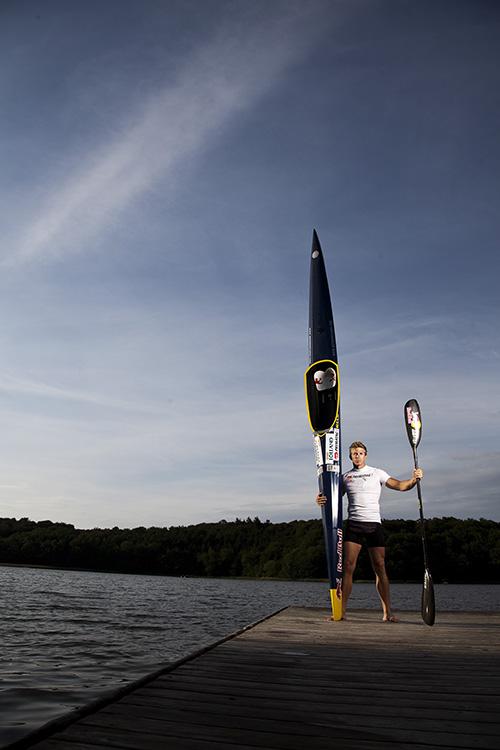 René Holten Poulsen med sin Kayak
