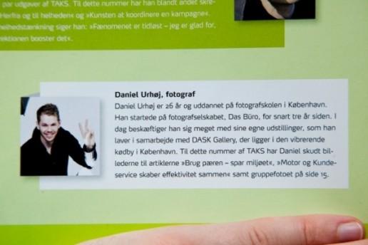 Daniel Urhøj Fotograf, 26 år fra Das büro