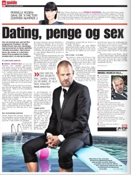mikkel munch-fals, Fating pene og sex artikkel