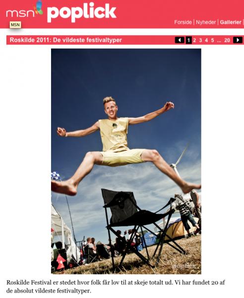 Fotograf Nicolaj Bak på Roskilde festival