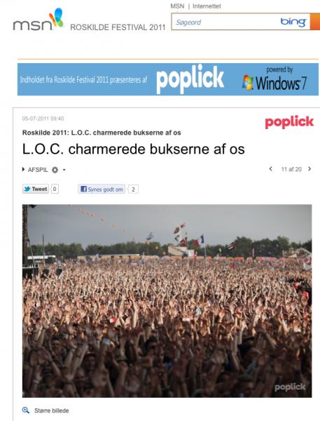 L.O.C charmerede bukserne af os på Roskilde