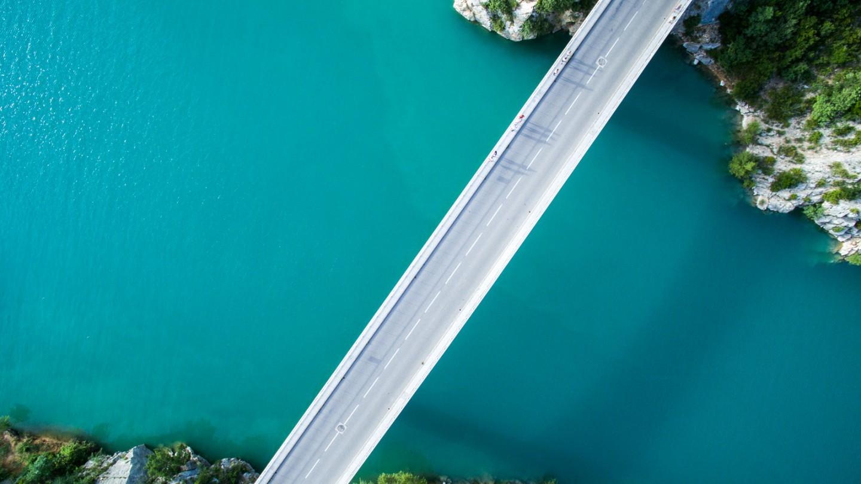 Drone photo bridge