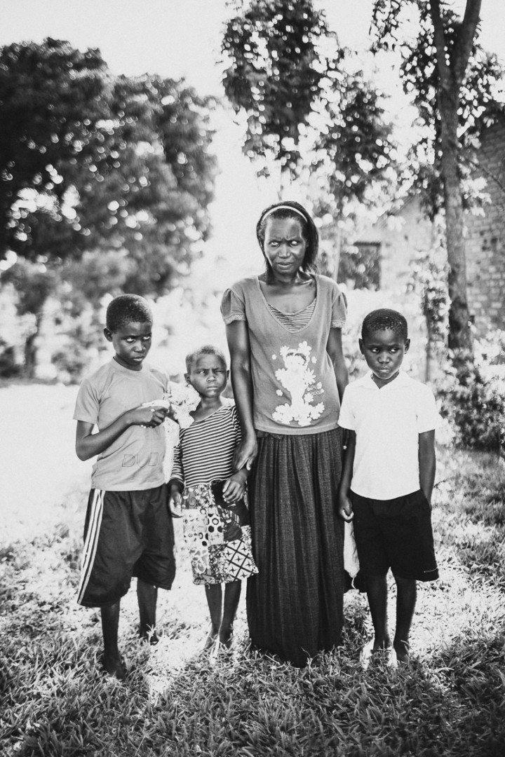 blind family in Uganda