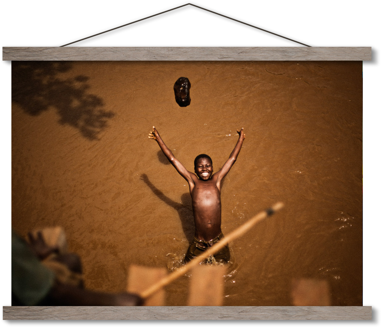 Boy in Burundi Swimming