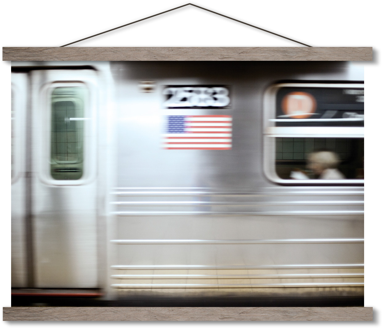 Subway in New York moving